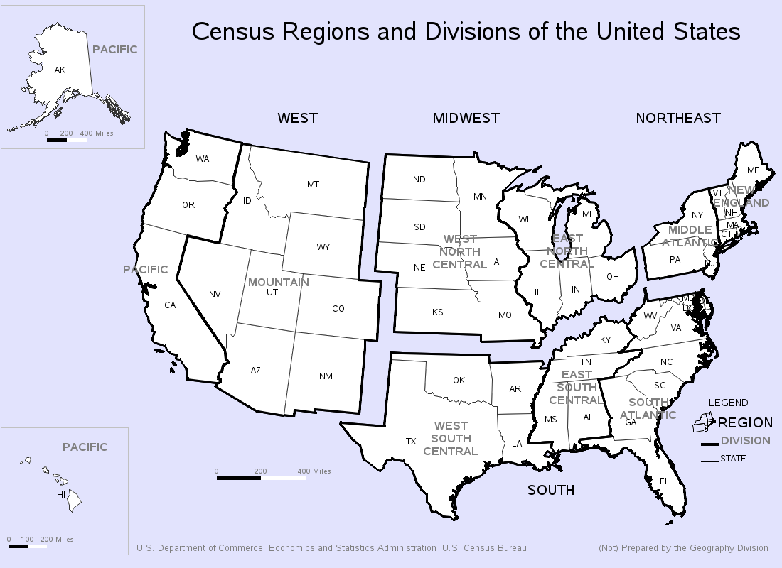 US Census Regions