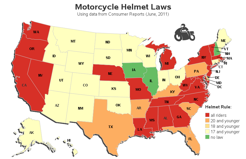 Minimum Wage In U S Tail Of The Dragon Map States Helmet Laws Hurricane Frequency