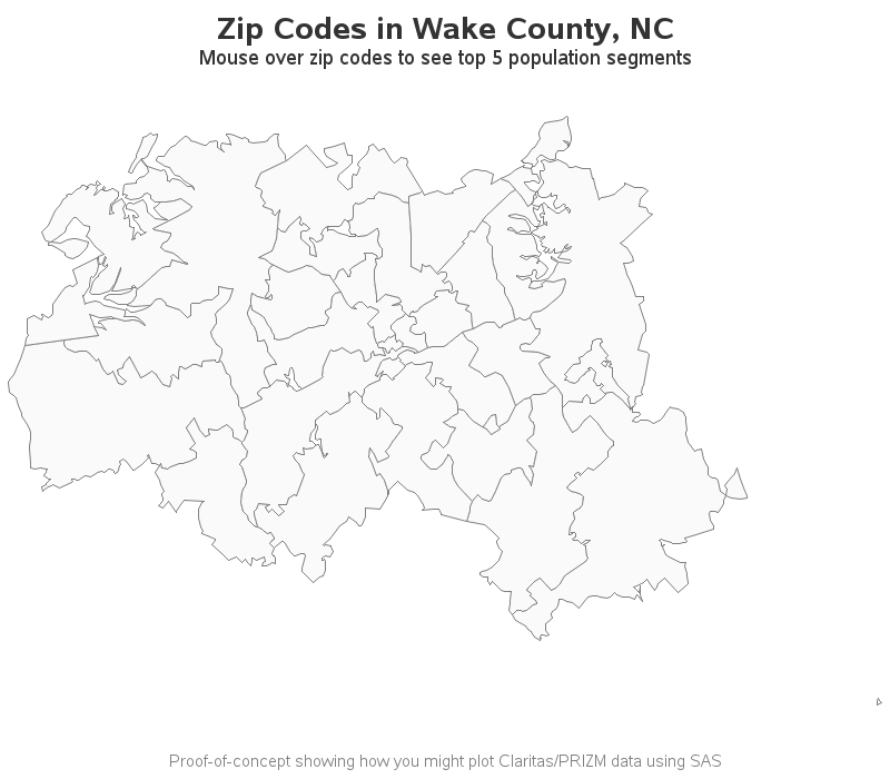 Census Zipcode Boundary Map