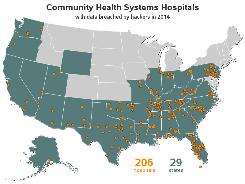 Community Health Systems Hospitals - list
