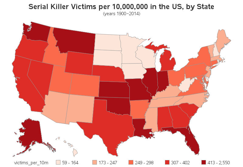an analysis of the elevation in serial killings in the united states of america 5 shocking female serial killers in the united states, about one in six serial lavinia fisher was one of the first female serial killers in america.