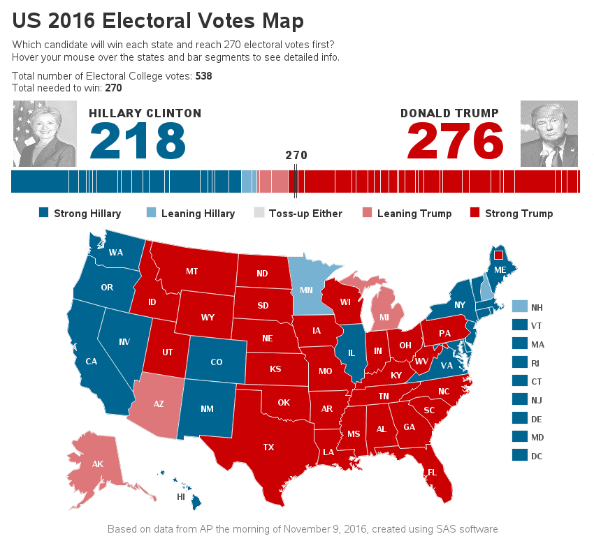 US Election Trump Victory In Maps BBC News What This - Editable election results map 2016 us