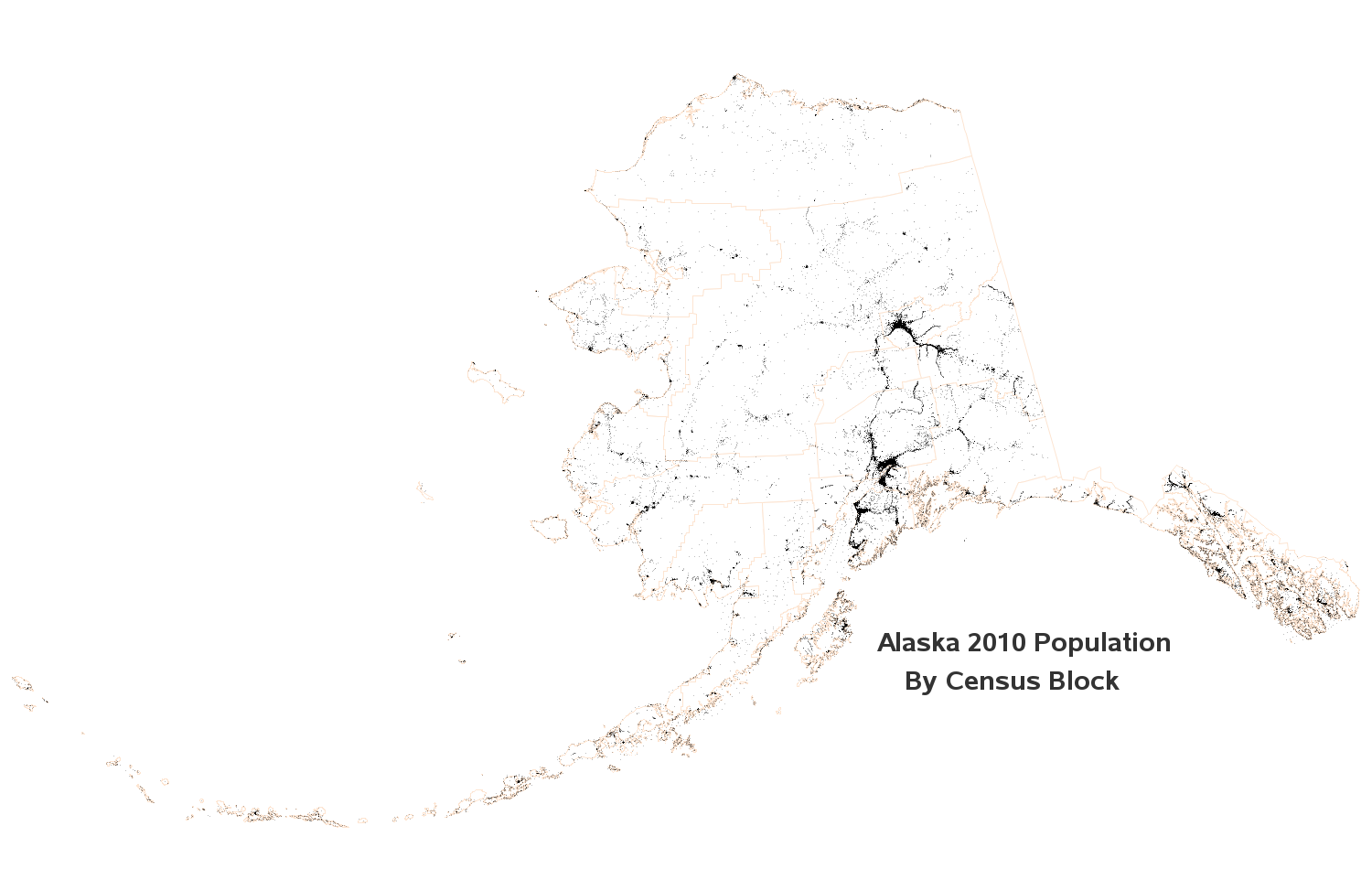 Picture of: 2010 Population Density Dot Map By Census Blocks